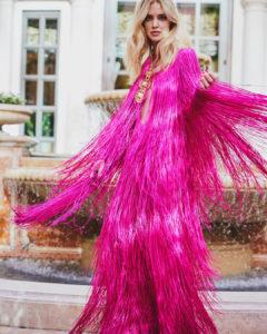 chiara ferragni vestito con frange pucci milano fashion week