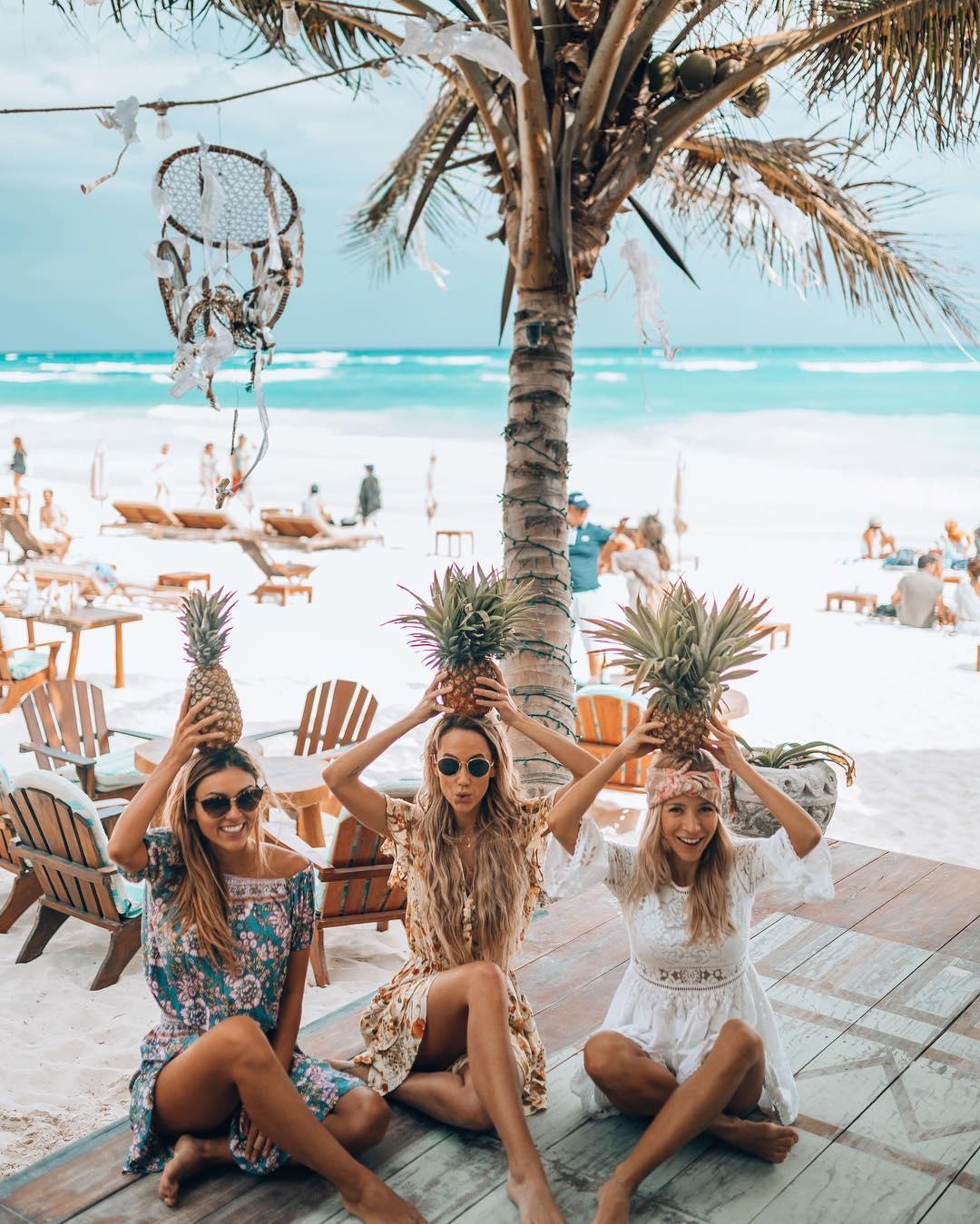 Tulum, Quintana Roo, credits to @meg_legs , @travel_inhershoes, @zeebalife on Instagram